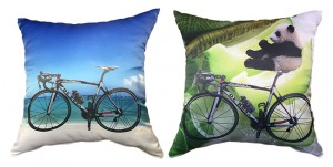 サイクリング自転車とパンダ